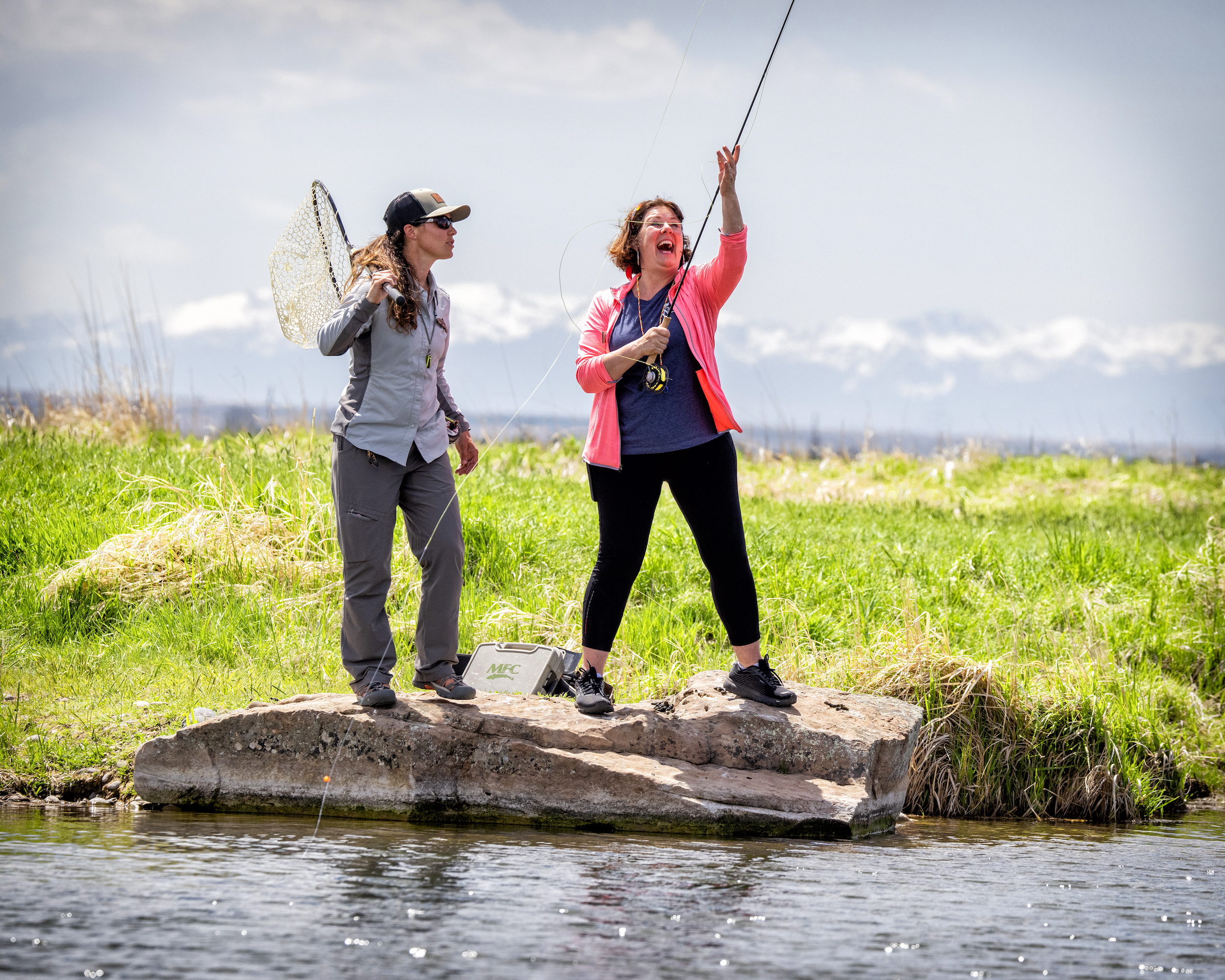 Watch Military Caregivers Fish in Montana