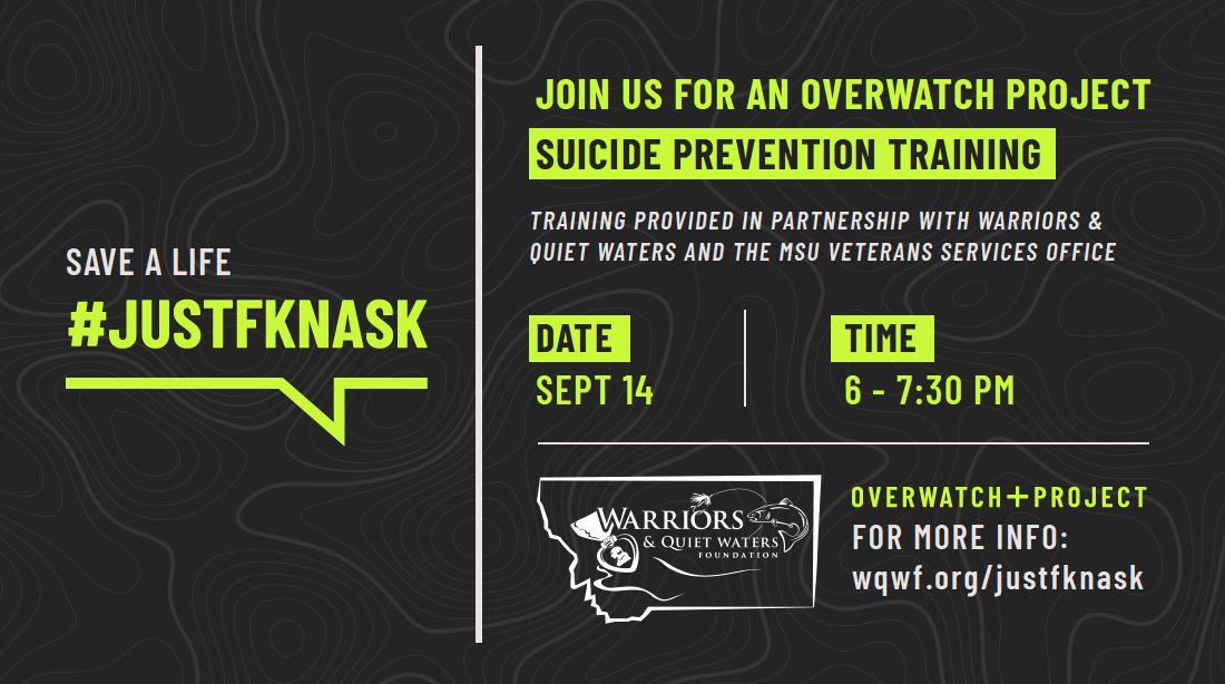 Just FKN Ask: Preventing Suicide and Saving Veteran Lives
